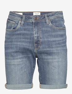 SLHALEX 329 MBLUE SU-ST DNM SHORT W NOOS - farkkushortsit - medium blue denim