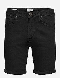SLHALEX 332 BLCK SU-ST DNM SHORTS W NOOS - chinos shorts - black denim
