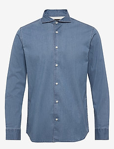 SLHREGSEL-NOOR SHIRT LS B NOOS - basic skjorter - medium blue denim
