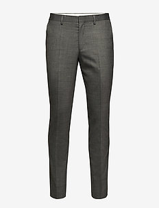 SLHSLIM-MYLOSTATE FLEX GR STR TRS B NOOS - suit trousers - grey