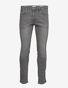 SLHSLIM-LEON 3021 L.GREY ST JEANS W NOOS - slim jeans - light grey denim