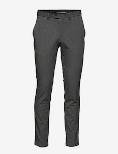 SLHSLIM-CARLO FLEX PANTS B NOOS - dressbukser - grey melange