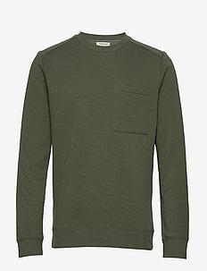 SLHFRANK CREW NECK SWEAT W - basic sweatshirts - beetle