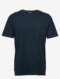 SLHLOUI SS O-NECK TEE B - basic t-shirts - sky captain
