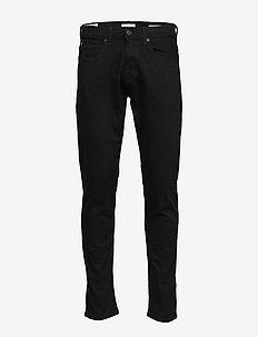 SLHSLIMTAPE-TOBY 1001 BLCK ST JNS W - slim jeans - black denim