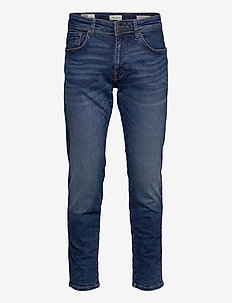 SLHSTRAIGHT-SCOTT 6212 MB SU-ST JNS NOOS - regular jeans - medium blue denim