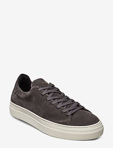 SLHDAVID CHUNKY SUEDE TRAINER W - lave sneakers - dark grey