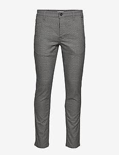 SLHSLIM-STORM FLEX SMART PANTS W NOOS - dressbukser - grey