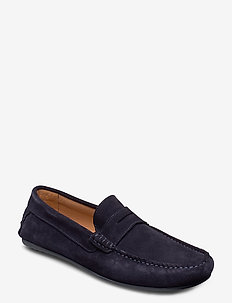SLHSERGIO PENNY DRIVE SUEDE SHOE W - loafers - dark navy