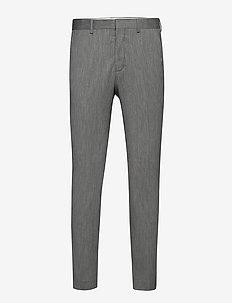 SLHSLIM-MYLOBILL LT GREY STRC TRS B NOOS - suit trousers - light grey melange