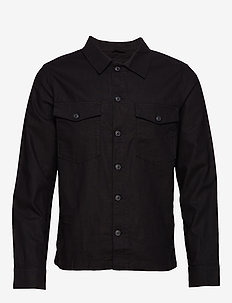 SLHEAST LINEN OVERSHIRT W - basic shirts - black