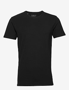 SLHNEWPIMA SS O-NECK TEE B NOOS - basic t-shirts - black