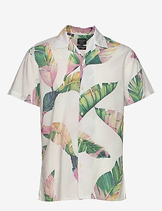 SLHREGAVALON SHIRT SS AOP B - chemises à manches courtes - bright white