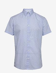 SLHSLIMDIXON SHIRT SS MIX B CAMP - basic shirts - skyway