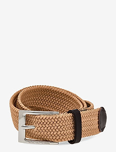 SLHALEX WEBBING  BELT B - braided belts - sand