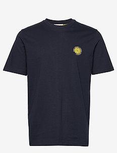 SLHGILROY EMB SS O-NECK TEE W - basic t-shirts - sky captain