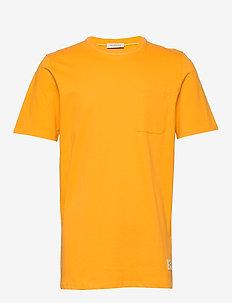 SLHGILROY SS O-NECK TEE W - basic t-shirts - old gold