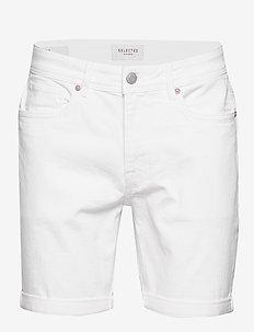 SLHALEX 418 WHITE DENIM ST SHORTS W - white denim
