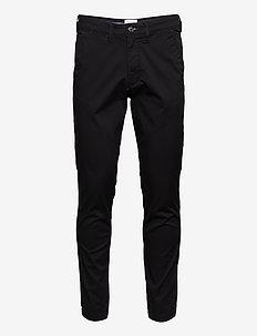 SLHSLIM-MILES FLEX CHINO PANTS W NOOS - chino's - black