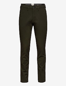 SLHSLIM-MILES FLEX CHINO PANTS W NOOS - chino's - forest night