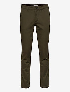 SLHSTRAIGHT-NEWPARIS FLEX PANTS W NOOS - chinos - forest night