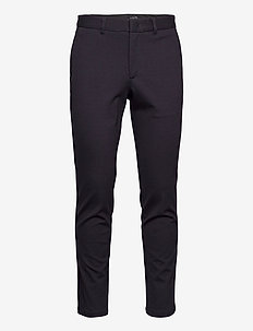 SLHSLIM-JERSEY FLEX PANTS B NOOS - pantalons chino - dark sapphire