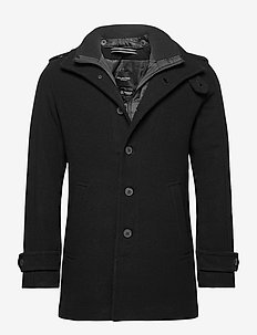 SLHNOAH  WOOL COAT B - ullfrakker - black