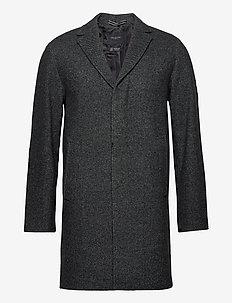 SLHHAGEN  WOOL COAT B - wollen mantels - dark grey