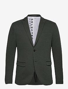 SLHSLIM-COLE BLZ B NOOS - enkeltkneppede blazere - dark green