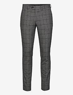 SLHSLIM-CARLO COTFLEX PANTS B - kostymbyxor - dark grey