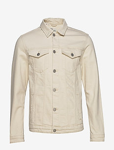 SLHJEPPE 6214 WHITE ST DENIM JACKET W - jeansjacken - white denim