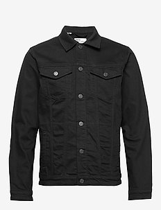 SLHJEPPE 4015 BLACK ST DENIM JACKET W - farkkutakit - black denim