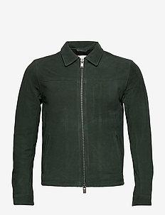 SLHARON SUEDE SHIRT JKT W - nahkatakit - dark green