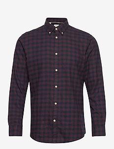 SLHSLIMFLANNEL SHIRT LS W NOOS - koszule w kratkę - port royale