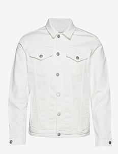 SLHJEPPE 6221 OP WHITE ST DENIM JACKET W - kurtki dżinsowe - white denim