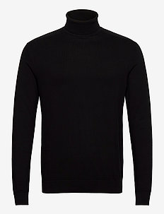 SLHBERG ROLL NECK B NOOS - tricots basiques - black