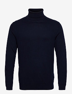 SLHBERG ROLL NECK B NOOS - basic strik - navy blazer