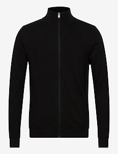 SLHBERG FULL ZIP CARDIGAN B NOOS - basic strik - black