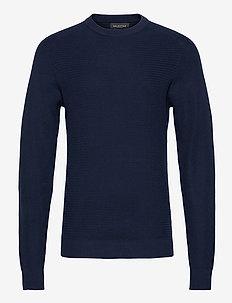SLHCORNELIUS STRUCTURE CREW NECK W NOOS - podstawowa odzież z dzianiny - navy blazer