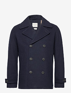 SLHSUSTAINABLE ICONICS PEACOAT W - uldjakker - sky captain