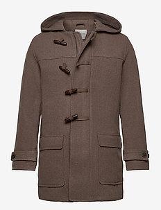 SLHSUSTAINABLE ICONICS DUFFEL COAT W - wool coats - woodsmoke