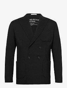 SLHREG-GATE DB BLZ B - blazers croisés - black
