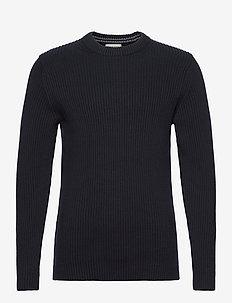 SLHBJORN CREW NECK J - basic knitwear - sky captain