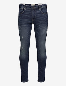 SLHSLIM-LEON 3034 M.BLUE ST JEANS J NOOS - slim jeans - medium blue denim