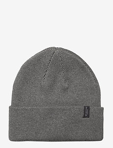 SLHLOYD COTTON BEANIE B - luer - medium grey melange