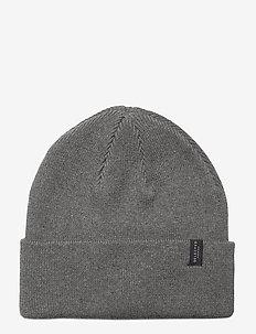 SLHLOYD COTTONEANIE - bonnets & casquettes - medium grey melange