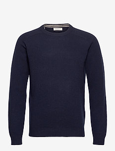 SLHNEWCOBAN LAMBS WOOL CREW NECK W - basic strik - sky captain