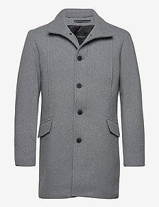 SLHMORRISON  WOOL COAT B NOOS - wollen mantels - grey melange