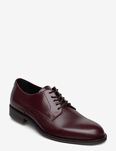 SLHLOUIS LEATHER DERBY SHOE B - laced shoes - chestnut