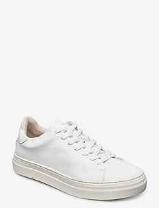 SLHDAVID CHUNKY CLEAN  LEATHER TRAINER B - low tops - white
